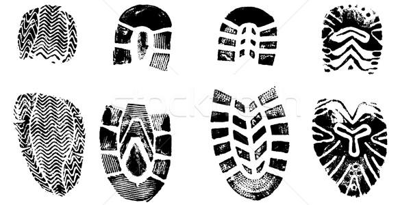 изолированный подробный вектора ходьбе обувь Сток-фото © PokerMan