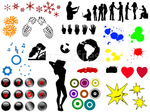 60 Top Grunge elements Stock photo © PokerMan