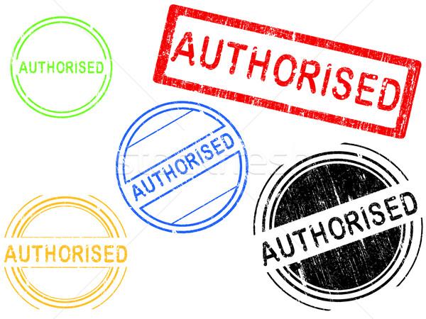 Гранж марок эффект служба штампа слово Сток-фото © PokerMan