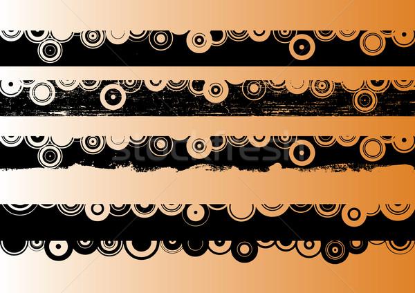 черный Гранж полосы художественный прозрачный векторы Сток-фото © PokerMan