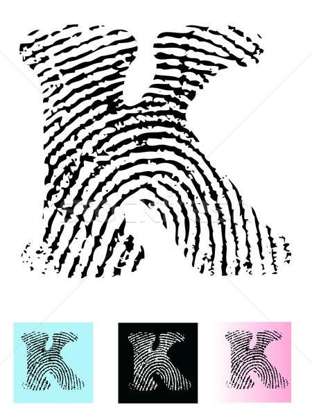 Finger Print Alphabet letter K Stock photo © PokerMan