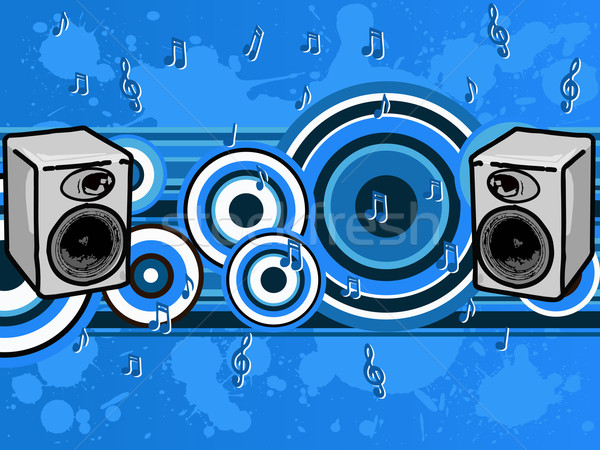 音楽 ブルース スピーカー 音符 ベクトル グラフィック ストックフォト © PokerMan