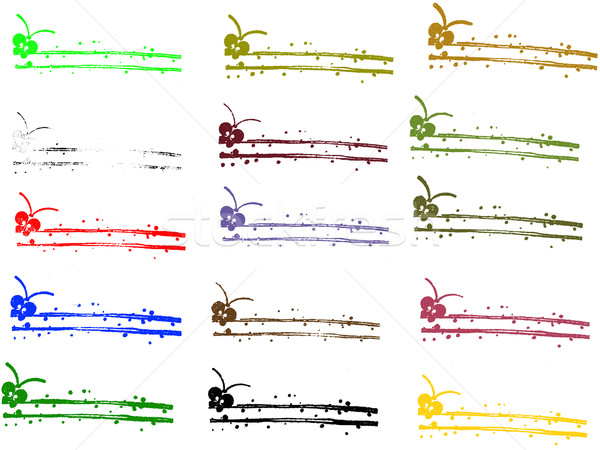 Grunge elements - Butterfly Borders Stock photo © PokerMan
