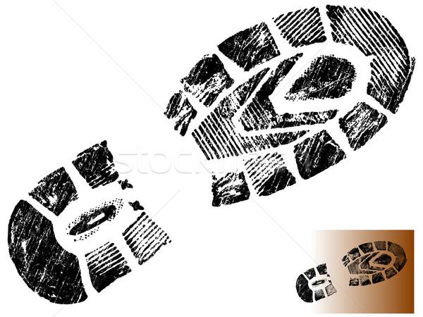 Grungy BootPrint 2 Stock photo © PokerMan