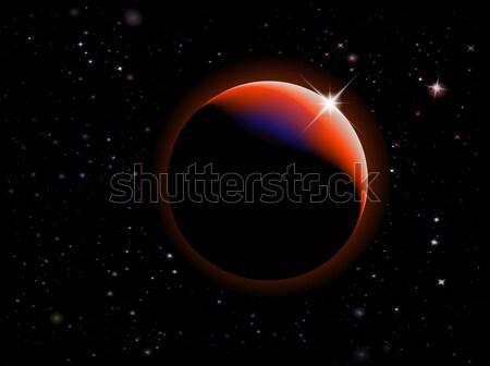 Eclipse fantasia spazio scena cielo texture Foto d'archivio © PokerMan