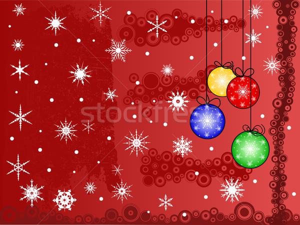Christmas scena płatki śniegu śniegu streszczenie Zdjęcia stock © PokerMan
