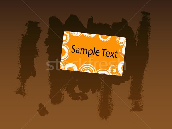 Orange Business Card with Brown grunge background Stock photo © PokerMan
