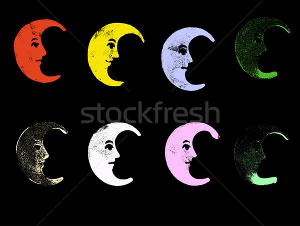 Гранж краской фон ночь Живопись цвета Сток-фото © PokerMan