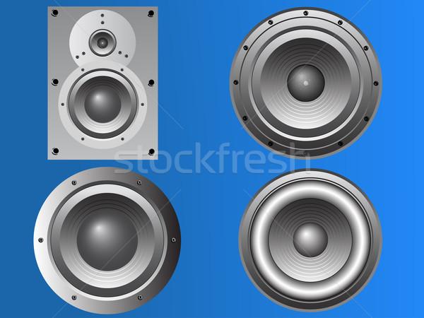 Stock photo: 4 Loudspeakers 2