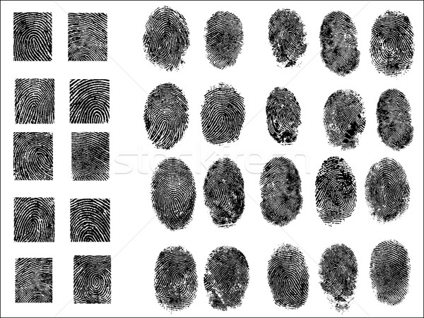 30 подробный Отпечатки пальцев фон Tech пальца Сток-фото © PokerMan