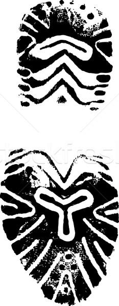женщины обуви печать вектора изображение безопасности Сток-фото © PokerMan