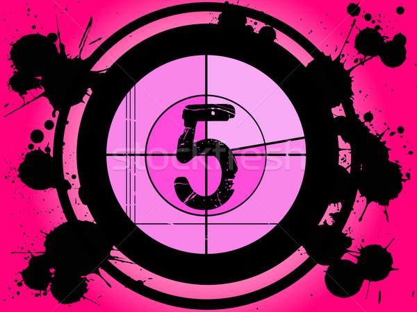 розовый фильма обратный отсчет старомодный числа кадр Сток-фото © PokerMan