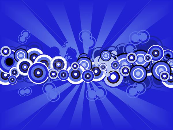 Rétro bleu peinture cadre Photo stock © PokerMan