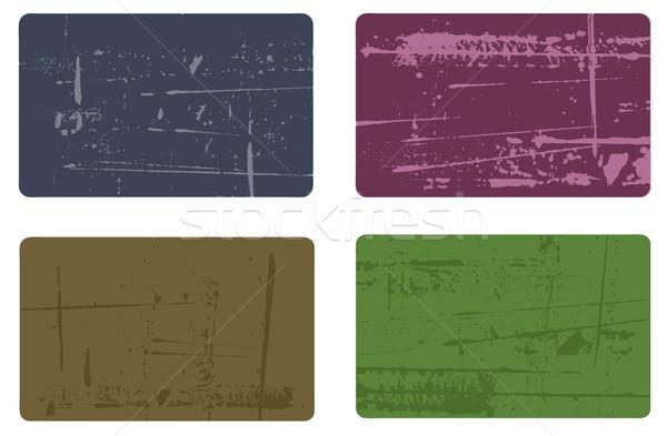 Grunge elements - 4 Business Cards 2 Stock photo © PokerMan