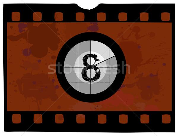 Film visszaszámlálás ódivatú nem keret képernyő Stock fotó © PokerMan