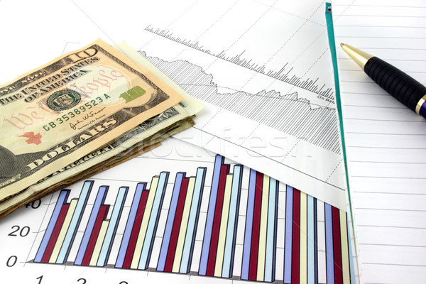 Business Charts with US Money Stock photo © PokerMan