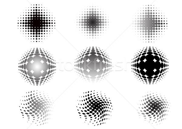 9 Circular graphic fade elements Stock photo © PokerMan