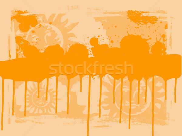 Ornage Sun Drips Stock photo © PokerMan
