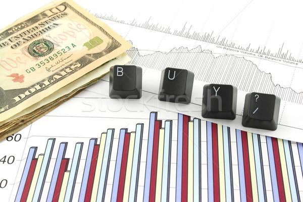 Affaires graphiques acheter graphique graphiques argent Photo stock © PokerMan