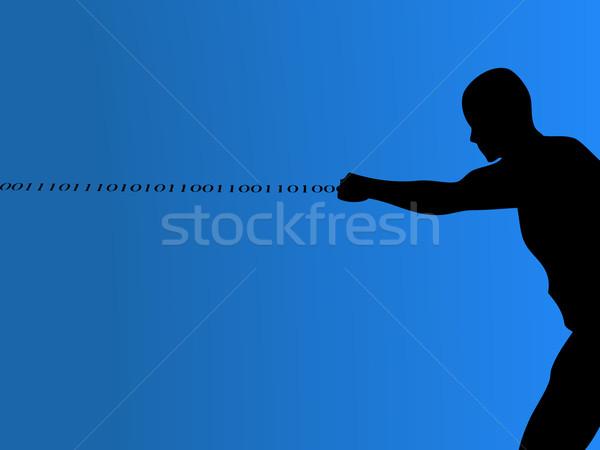 バイナリ 男 撮影 外に 番号 作業 ストックフォト © PokerMan