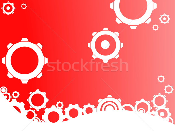 Red Industrial background Stock photo © PokerMan