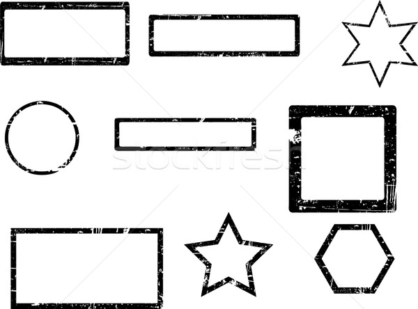 Grunge tampon grandes lignes transparent vecteurs peuvent Photo stock © PokerMan