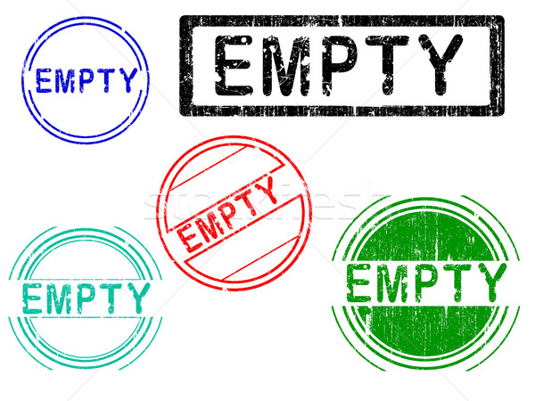 5 Grunge Stamps - EMPTY Stock photo © PokerMan