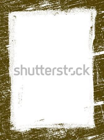 Sınır 15 ayrıntılı vektör grunge Stok fotoğraf © PokerMan