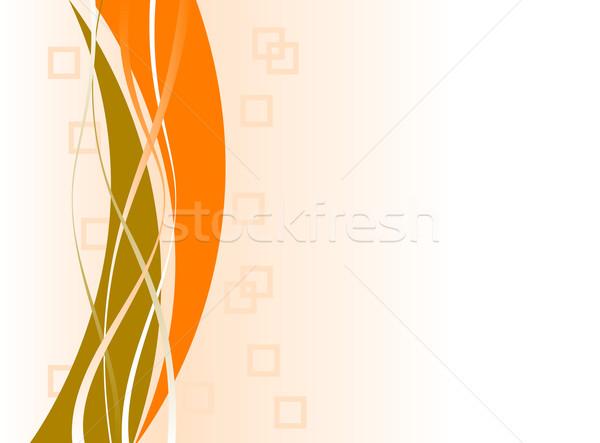 Orange espace de copie vagues ordinateur texture Photo stock © PokerMan