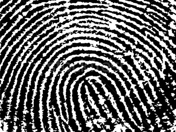 отпечатков пальцев низкий черно белые вектора безопасности Сток-фото © PokerMan