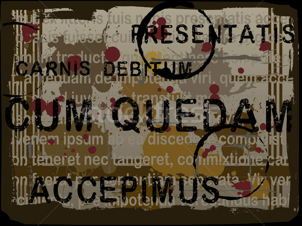 Latin Text Grunge Background 4 Stock photo © PokerMan
