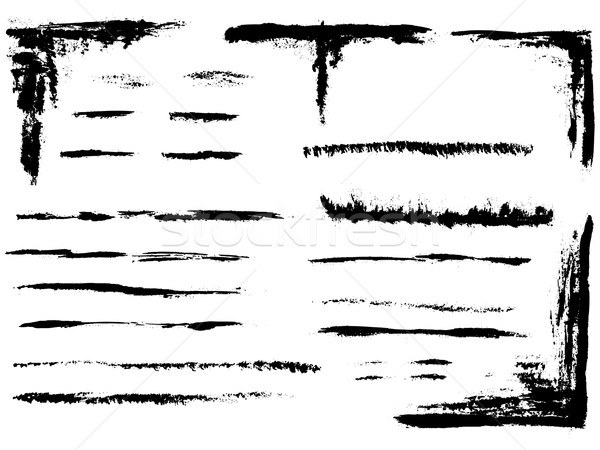 Grunge elements - Full Page of lines 4 Stock photo © PokerMan