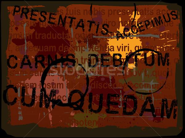 Latin Text Grunge Background 5 Stock photo © PokerMan