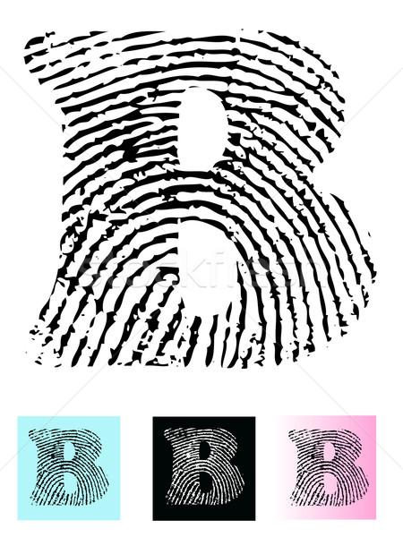 Stock photo: Fingerprint Alphabet Letter B