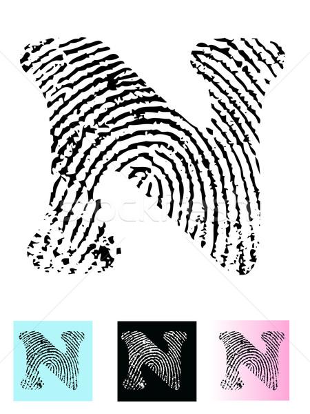 пальца печать алфавит письме прозрачный Сток-фото © PokerMan