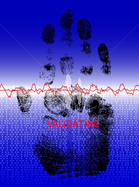 Full Handprint - Biometric Scan Stock photo © PokerMan