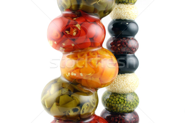Bottles of spiced Chilies Stock photo © PokerMan