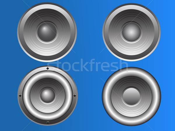 4 Vector Loudspeakers  Stock photo © PokerMan