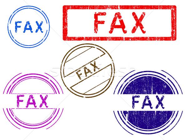 Grunge timbres fax effet bureau tampon Photo stock © PokerMan