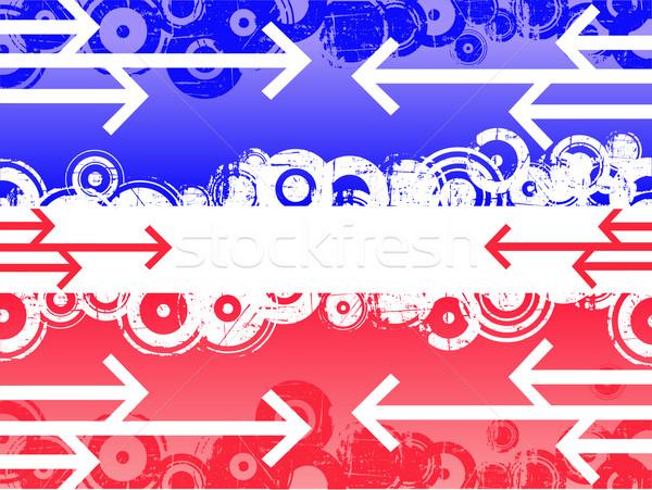 синий красный Стрелки ретро краской искусства Сток-фото © PokerMan