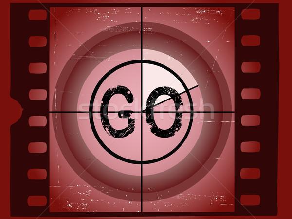 Edad rojo película cuenta atrás marco Screen Foto stock © PokerMan
