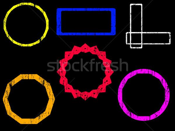 Grunge tampon grandes lignes timbres transparent Photo stock © PokerMan