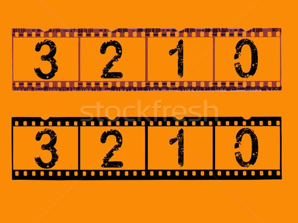 Transparent Film Strips with countdown  Stock photo © PokerMan