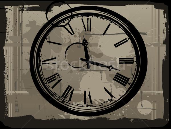 старые часы Гранж стороны лице заседание Сток-фото © PokerMan