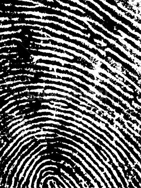 Ujjlenyomat termény feketefehér vektor átlátszó konzerv Stock fotó © PokerMan