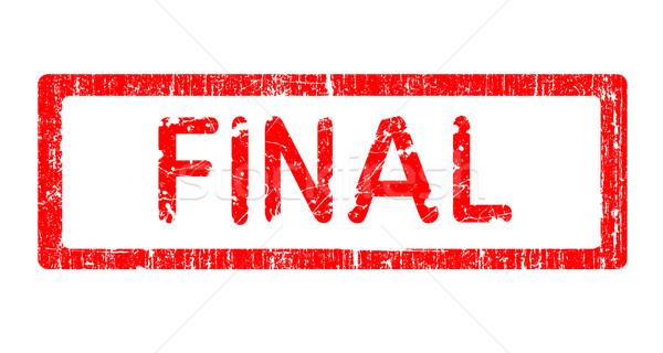 Grunge bureau tampon finale mot texte Photo stock © PokerMan
