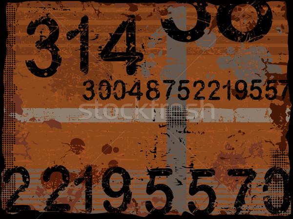 Grunge nombre vecteur couches peuvent utilisé Photo stock © PokerMan