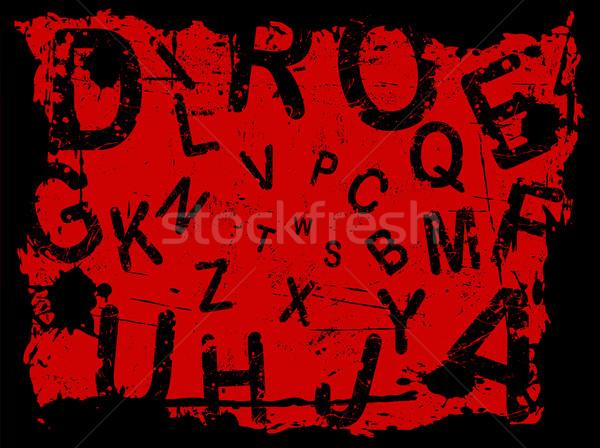 письме Гранж письма падение текстуры дизайна Сток-фото © PokerMan