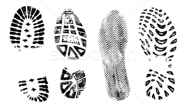 Yalıtılmış ayrıntılı vektör yürüyüş ayakkabı Stok fotoğraf © PokerMan