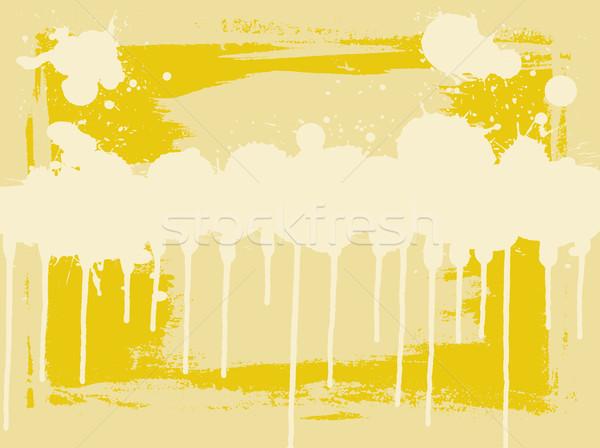 Yellow Drips Stock photo © PokerMan